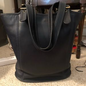 Coach Leather Navy Bucket Bag